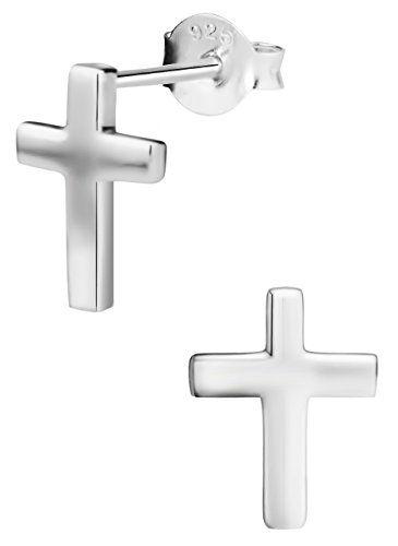 Nickel Free Hypoallergenic Sterling Silver Crystal Heart Stud Earrings for Kids