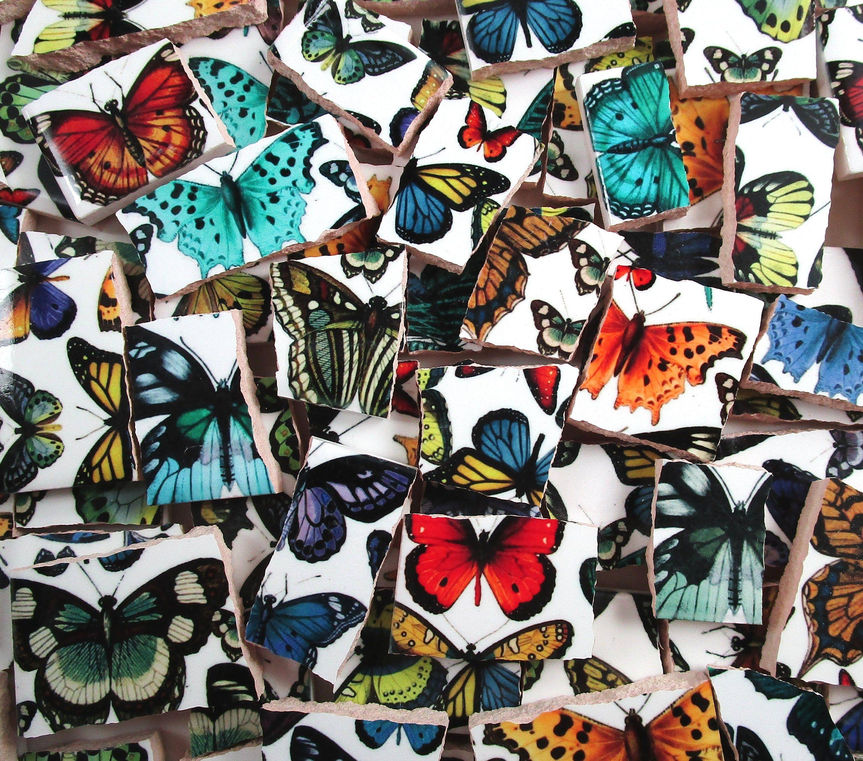 Bulk Mosaic Tiles 2 Pounds Mixed Butterflies And Butterfly Wings Designs Mosaic Tile Pieces Bulk Mosaic Tiles Bulk Made Re Mosaic Tiles Mosaic Art Mosaic