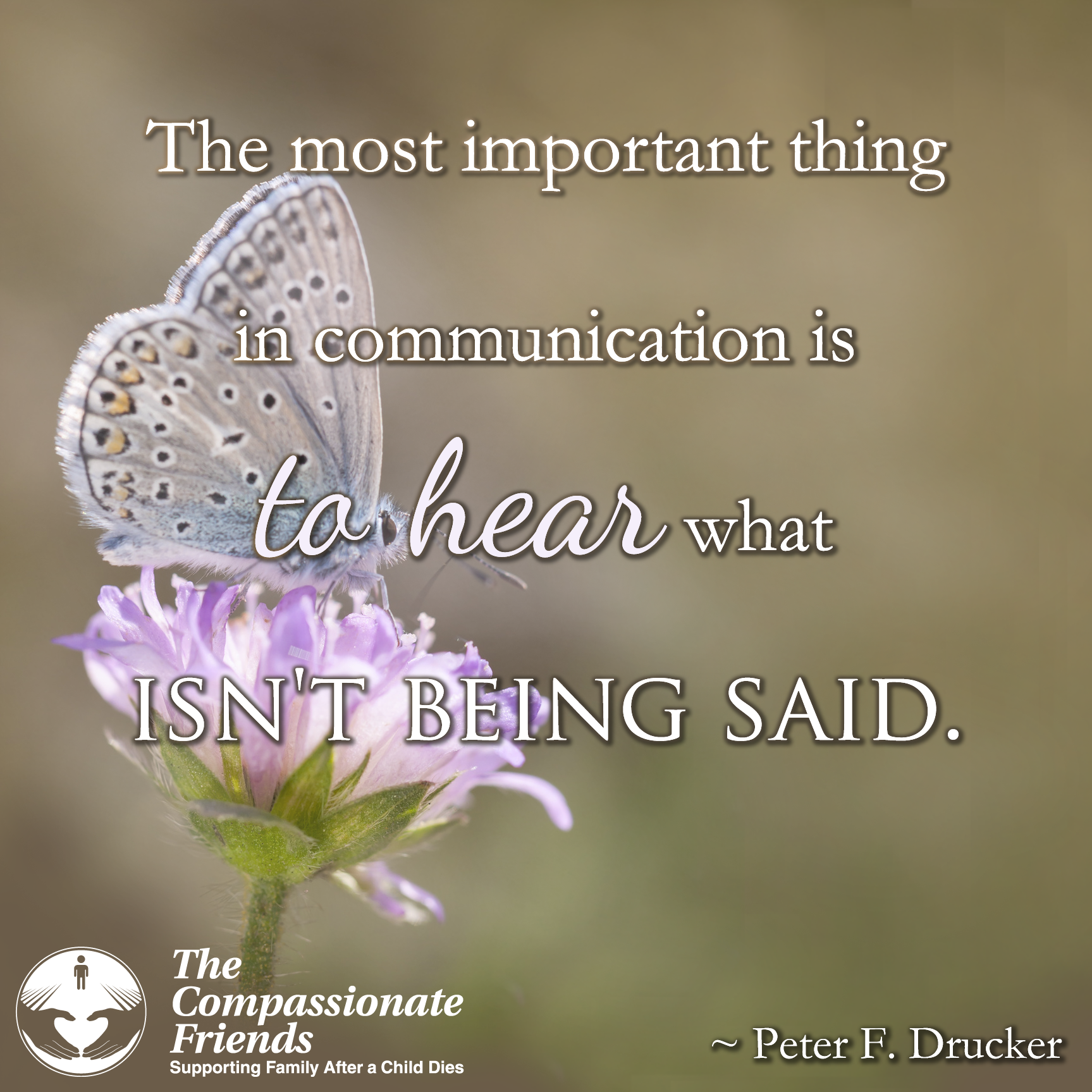 Supporting Quotes Grief Quotes The Most Important Thing In Communication.the