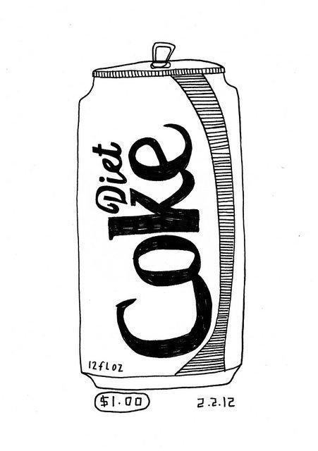 Diet coke - the other sugar-free gasoline | black & white in