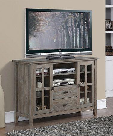 Gray Tall Artisan TV Stand