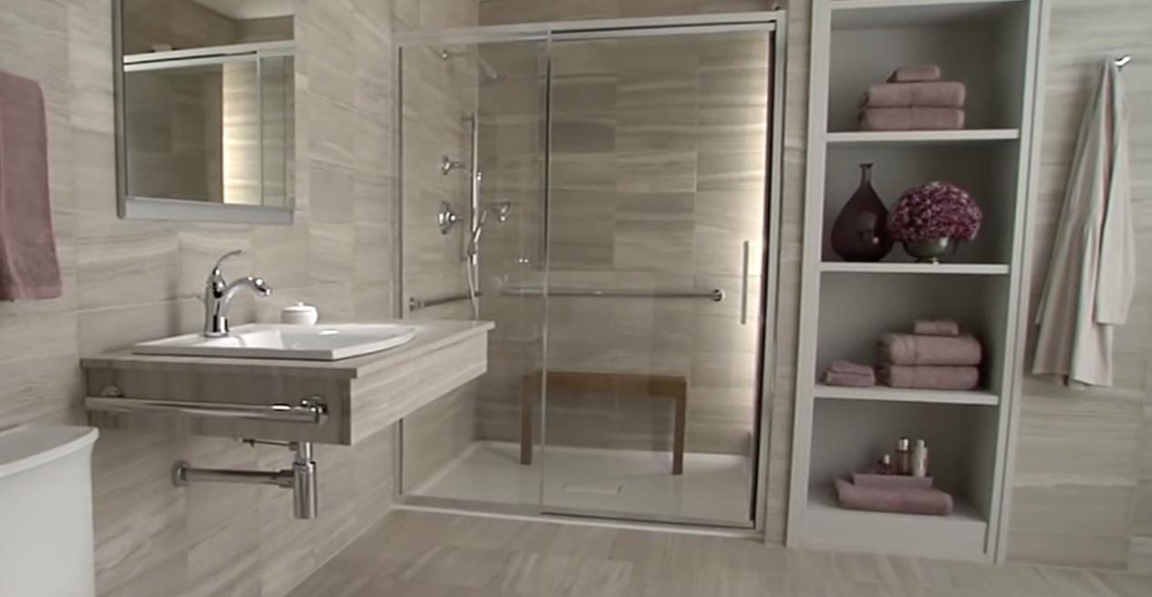handicap shower | Accessible bathroom, Accessible bathroom ...