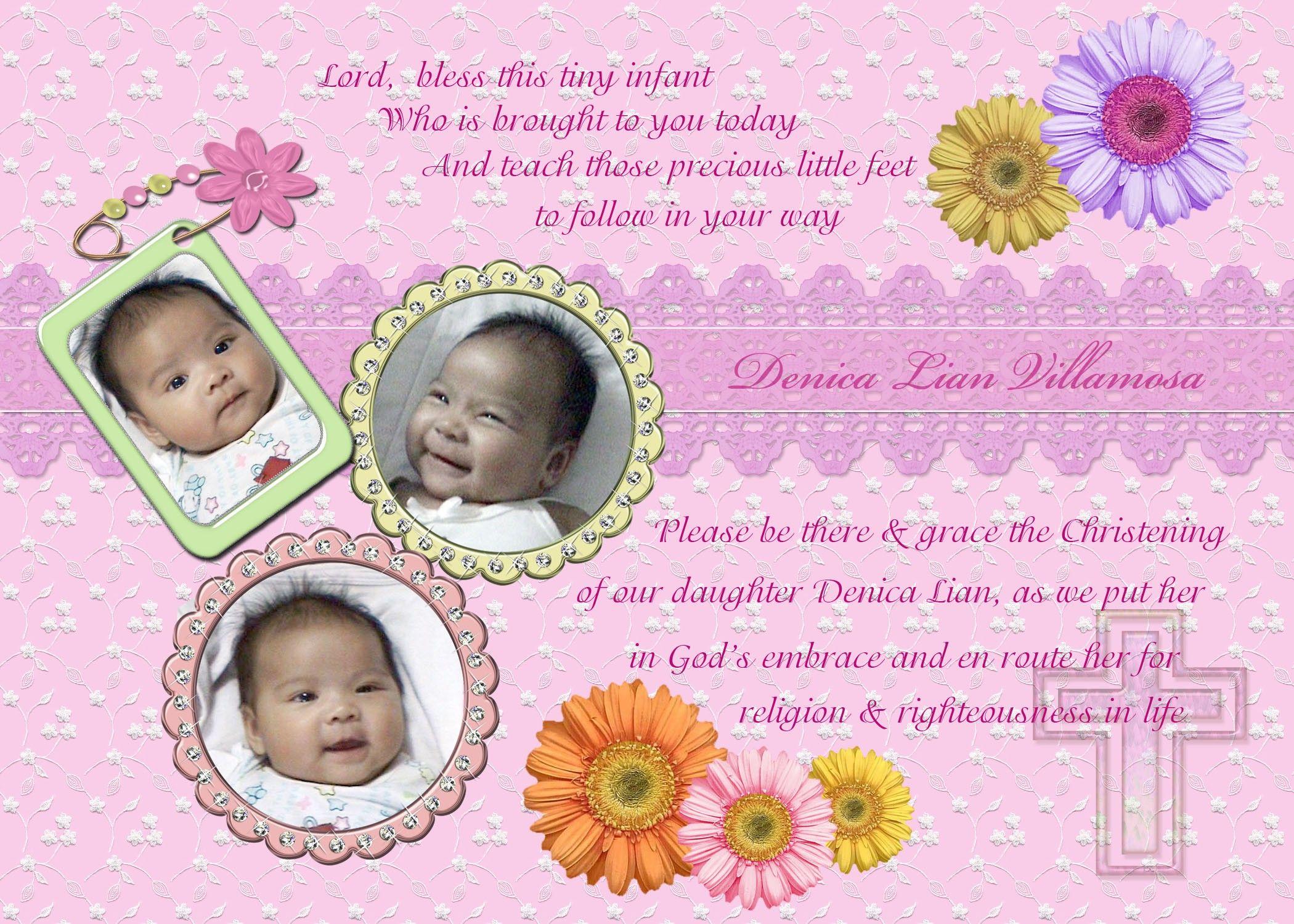 free christening invitation templates