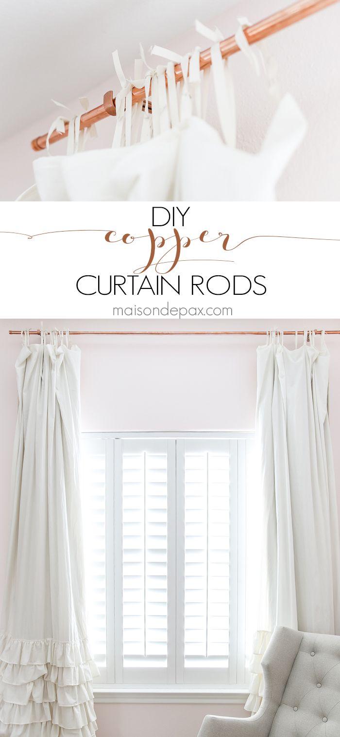 Diy Copper Curtain Rods Maison De Pax Diy Curtain Rods Diy