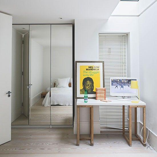 Scandinavian bedroom ideas Mirrored wardrobe, Mid century