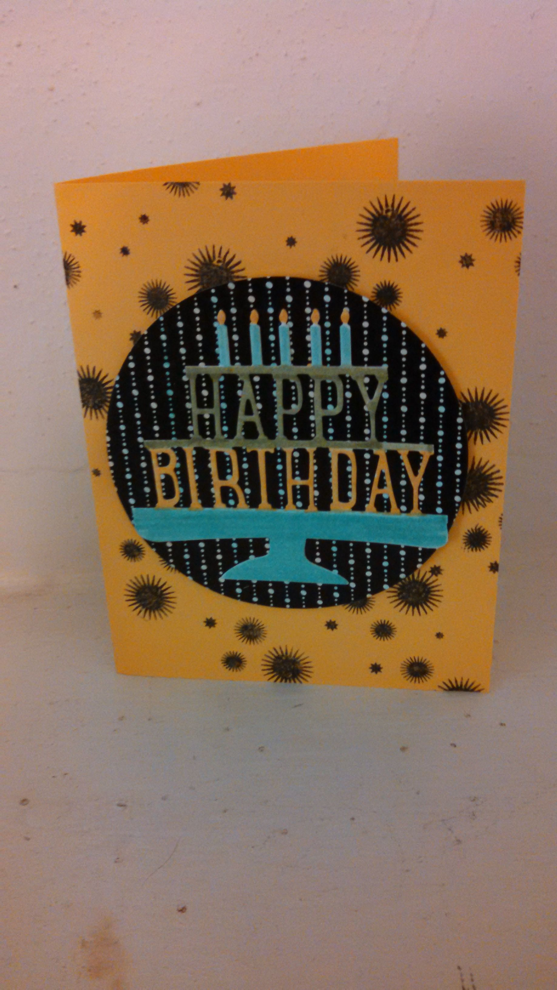 Birthday Card Made From Party Pop Up Framelit And Perpetual Calendar Stamp Set SU