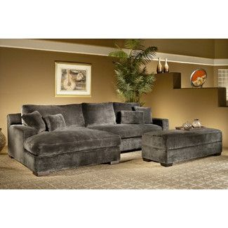 Astonishing Nealy Symmetrical Sectional With Ottoman Deep Seated Sofa Andrewgaddart Wooden Chair Designs For Living Room Andrewgaddartcom