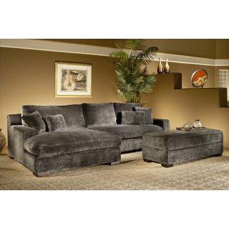 Amazing Nealy Symmetrical Sectional With Ottoman Deep Seated Sofa Customarchery Wood Chair Design Ideas Customarcherynet
