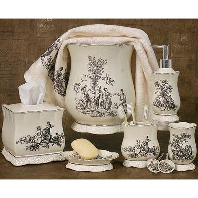 Best Photo Gallery Websites Toile Kitchen Accessories Antoinette Bath Accessories Collection Meijer
