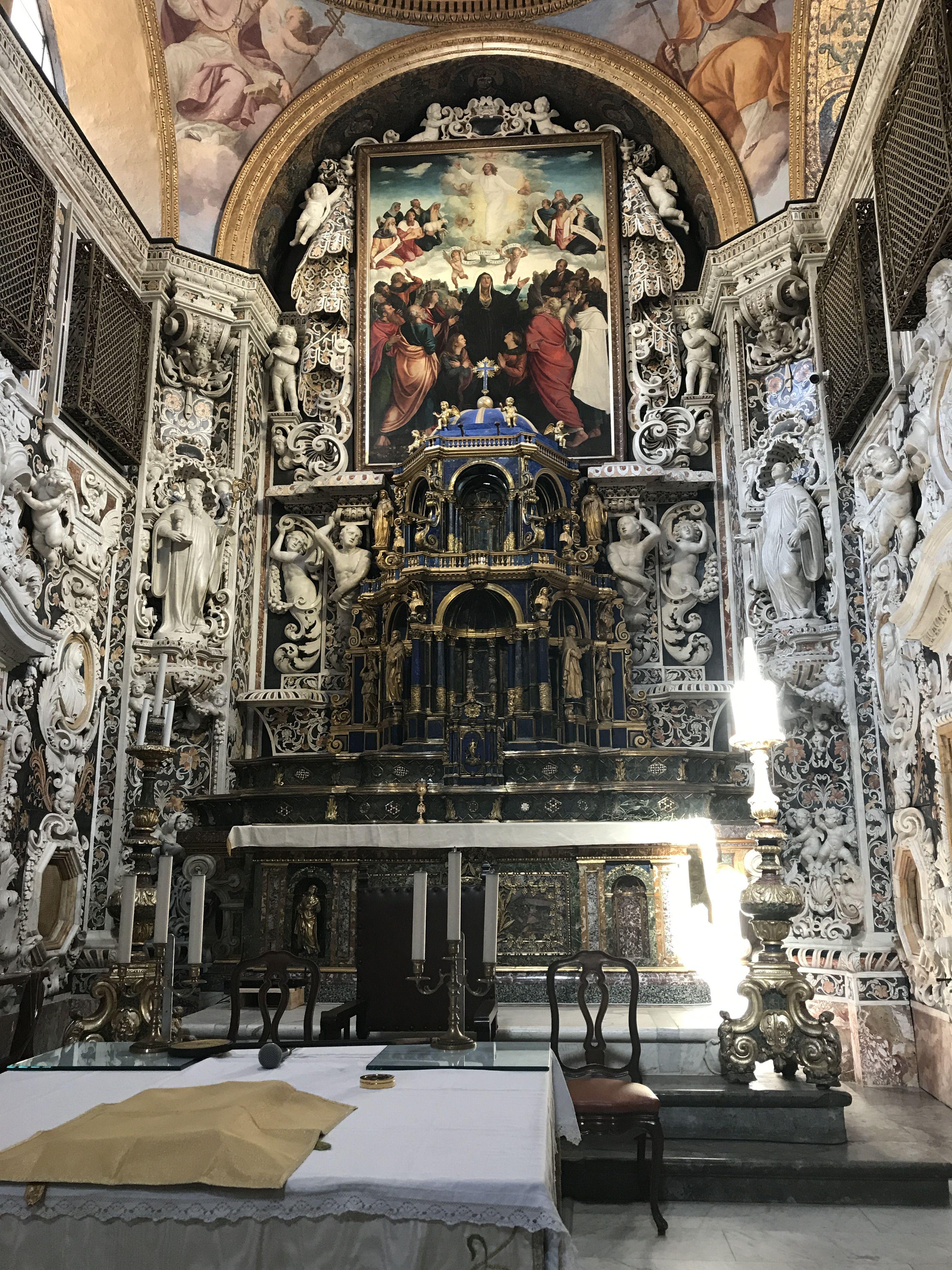 Interno della chiesa di Santa Maria dell'Ammiraglio, sede della parrocchia di San Nicolò dei Greci, detta della Martorana Palermo, Sicily, Italy
