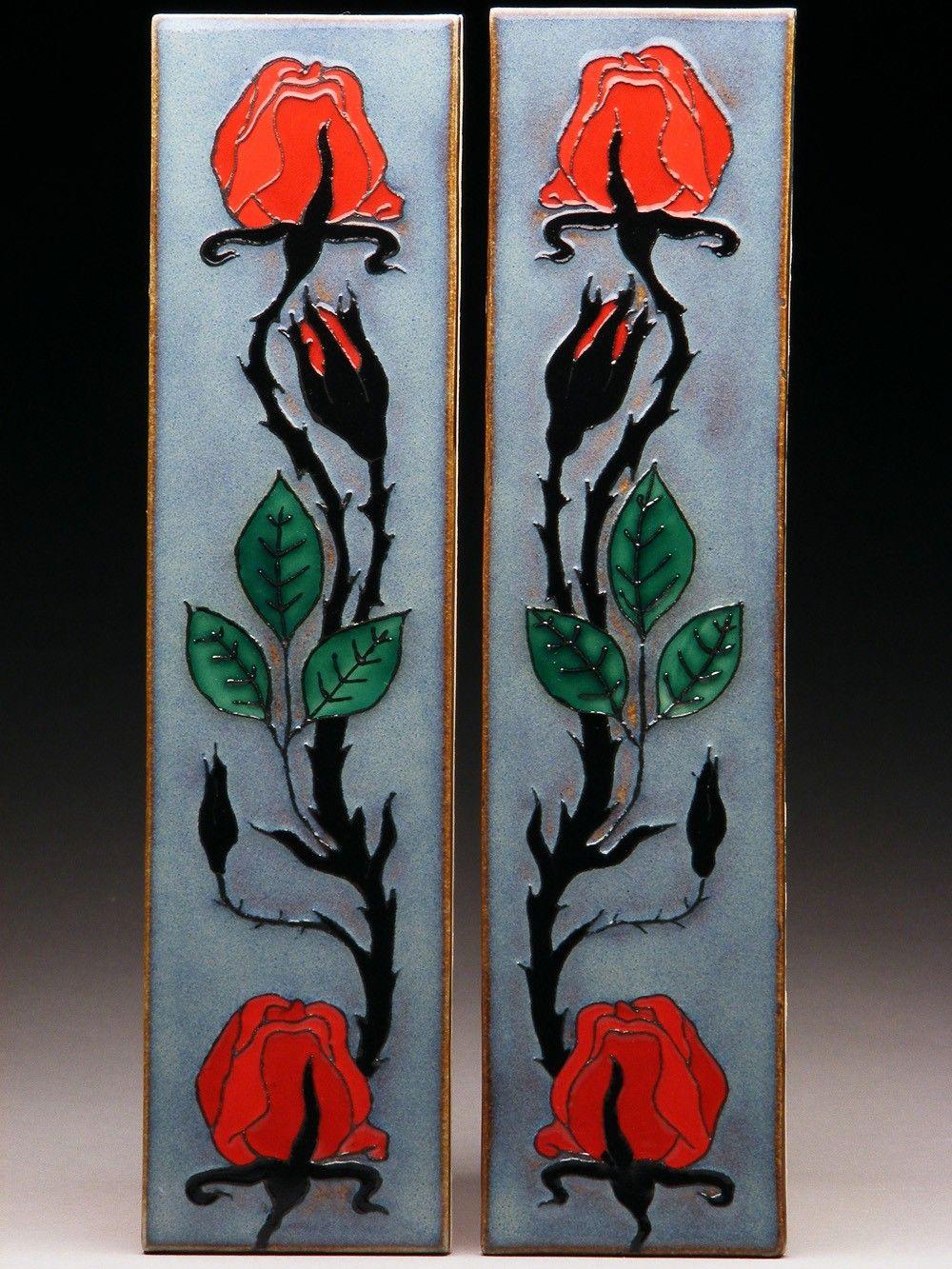 Prairie Mile Tile - Red Rose Vine