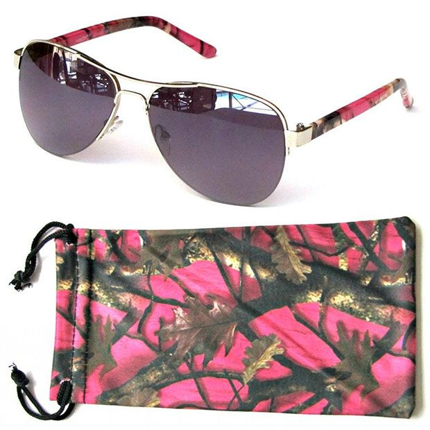 21feaa32cf9f Hot Pink Camo Aviator Sunglasses