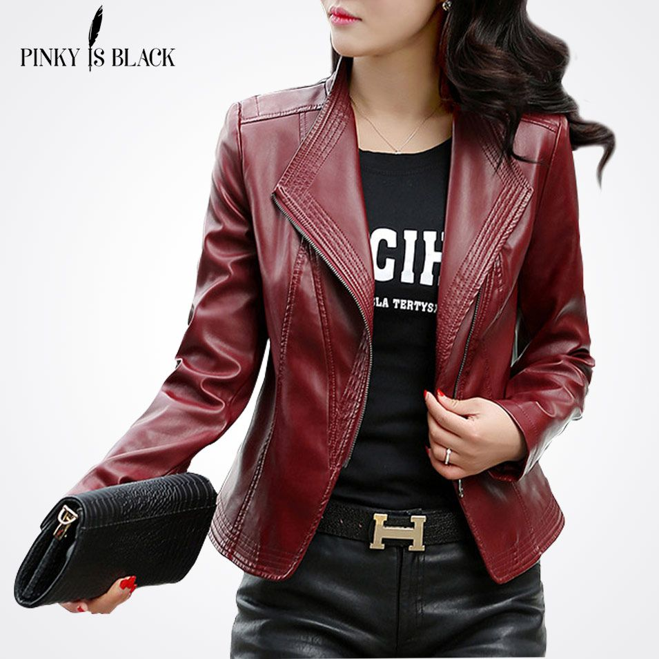 Click To Buy Pinky Is Black Women Leather Jacket 2017 New Plus Size S 5xl Women Jackets So Leather Jacket Leather Jackets Women Leather Motorcycle Jacket [ 955 x 955 Pixel ]