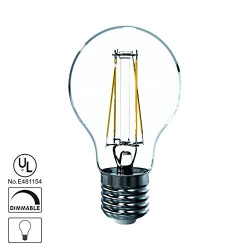 1pack Lights Talk Led Vintage Filament Bulb 7w To Replace 60w A19 Edison Stylesoft White 2700k 120v Ac Ul Listed E26 Dim Filament Bulb Light Talk Packing Light