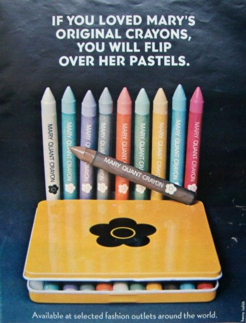 Mary Quant Crayons, 1973 (For Body Painting)