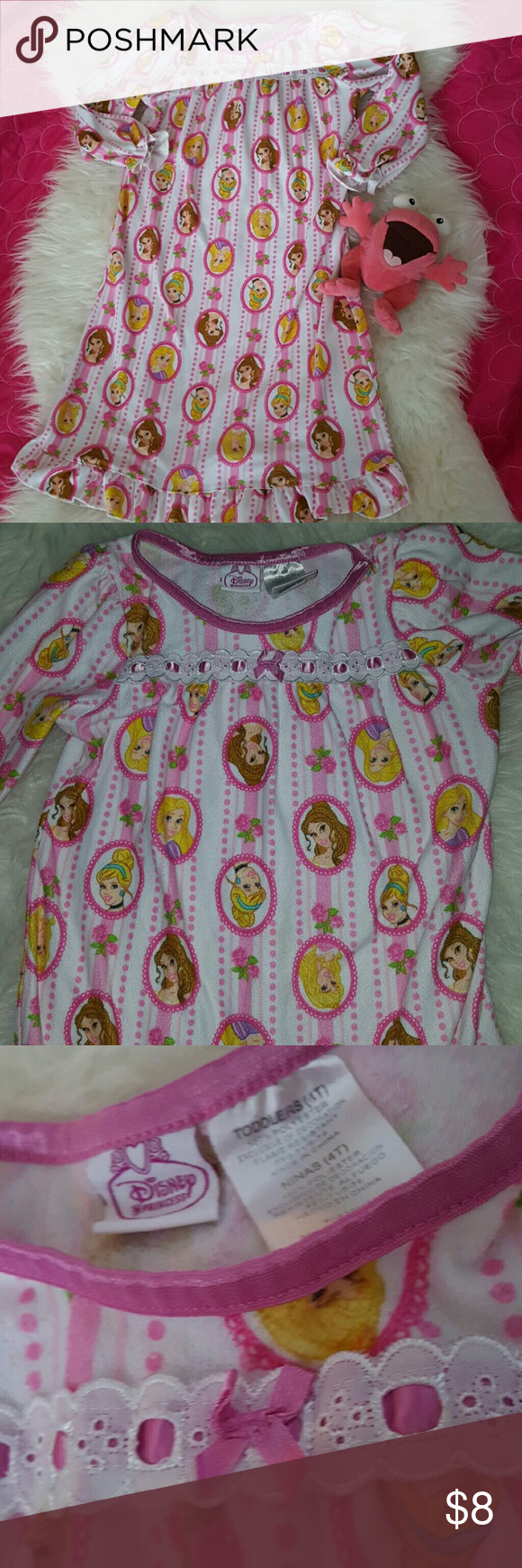 Disney Princess nightgown 4T with FREE TOY | Girl sleeping ...