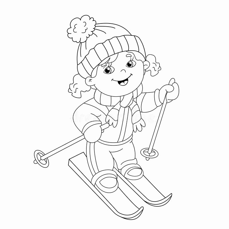 Winter Sports Coloring Pages In 2020 With Images Sports