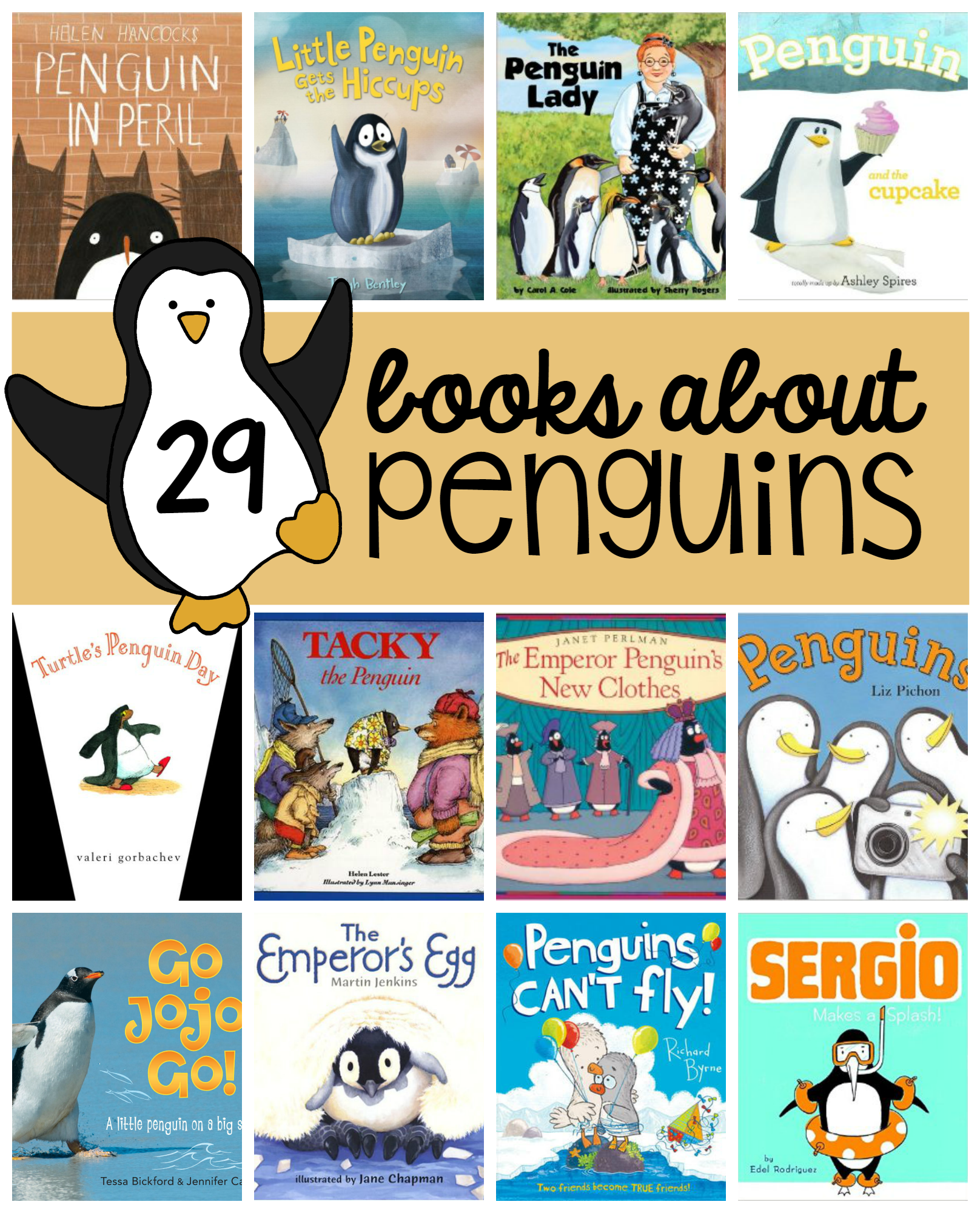 Books For A Penguin Theme