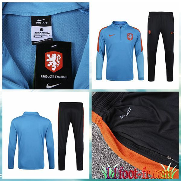 Pays-Bas Survet Foot 16 17 Homme Bleu