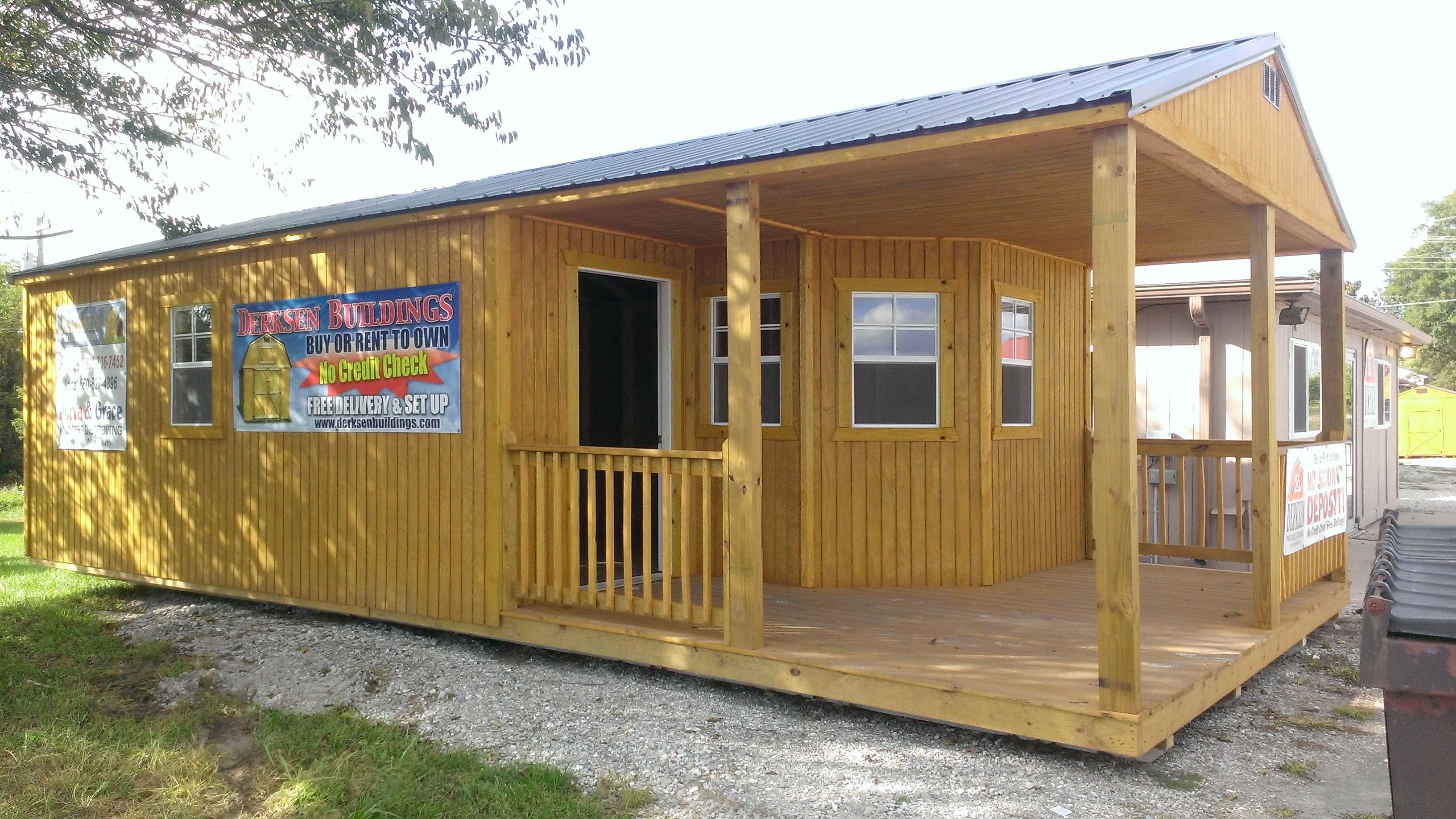 16X32 Cabin Ideas | Derksen Portable Buildings | property home