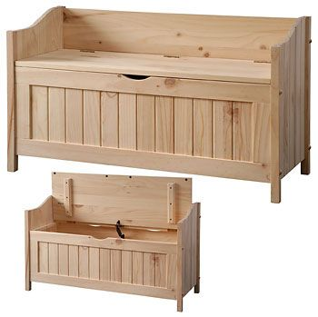Solid Pine Northwoods storage bench | Solid wood bedroom ...