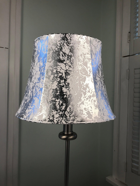 Metallic Lamp Shade Silver Lamp Shade Small Lamp Shade Silver
