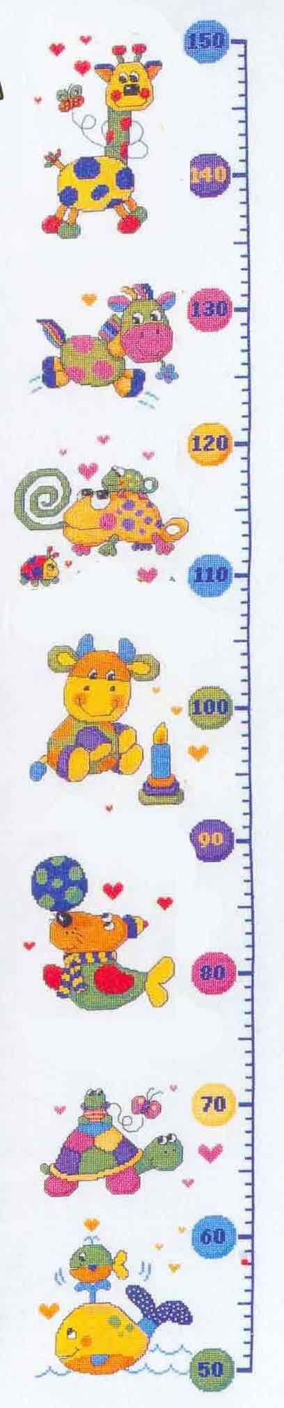 Patrones medidores infantiles en punto de cruz - Imagui | Mis ...