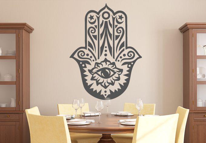 Hamsa Hand Of Fatima Wall Decal Symbolic Vinyl Decor