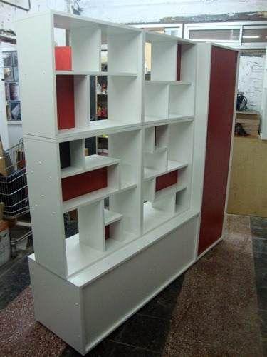 Divisor Ambiente Placard Baulera Monoambiente 3 Colores oficina