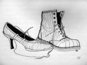 Contour Line Drawing Shoes Lesson Plan : Cross contour shoes art lesson on line pinterest contours