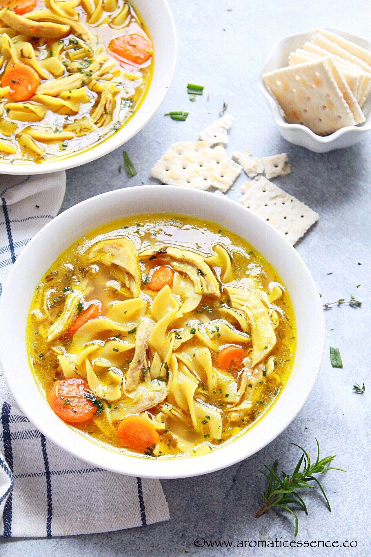 instant pot chicken noodle soup  recipe  instant pot
