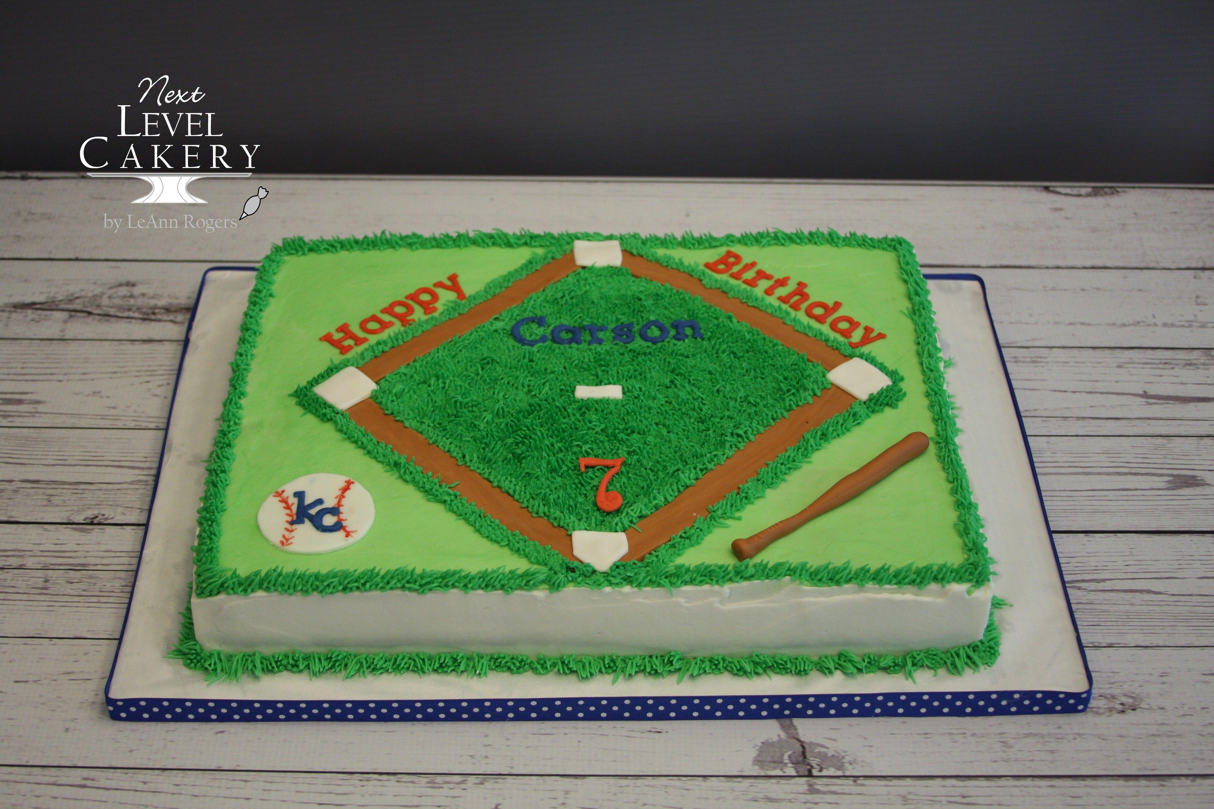 Baseball cake baseball field kc royals baseball