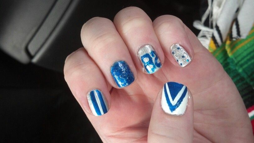 Dallas cowboys nails. Go Witten!!!