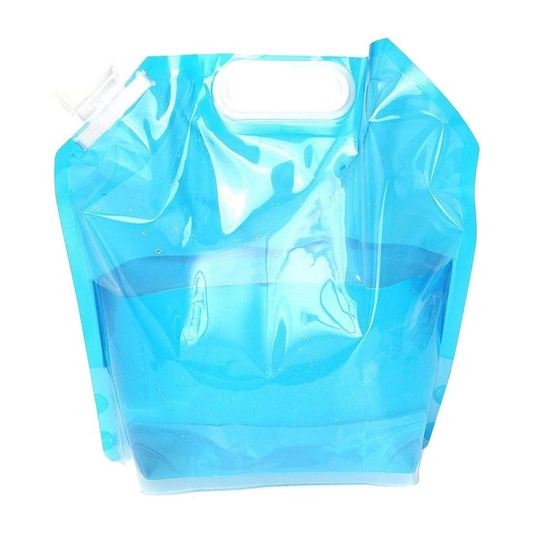 Portable Folding Clear Water Bag Camping Hiking Survival Tool Kit Supply 5L PE