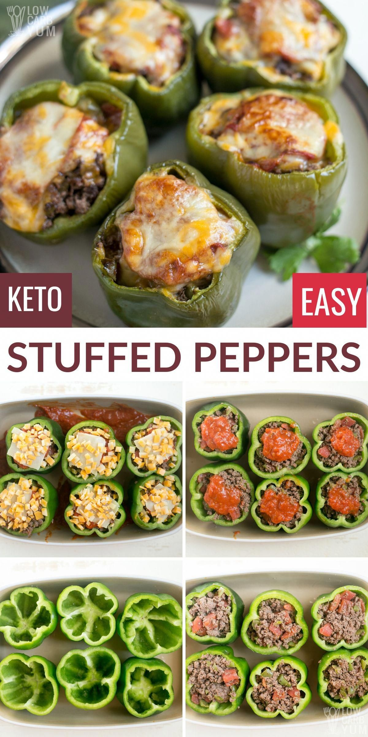 Keto Low Carb Stuffed Peppers With Beef In 2020 Low Carb Stuffed Peppers Keto Recipes Easy Stuffed Peppers
