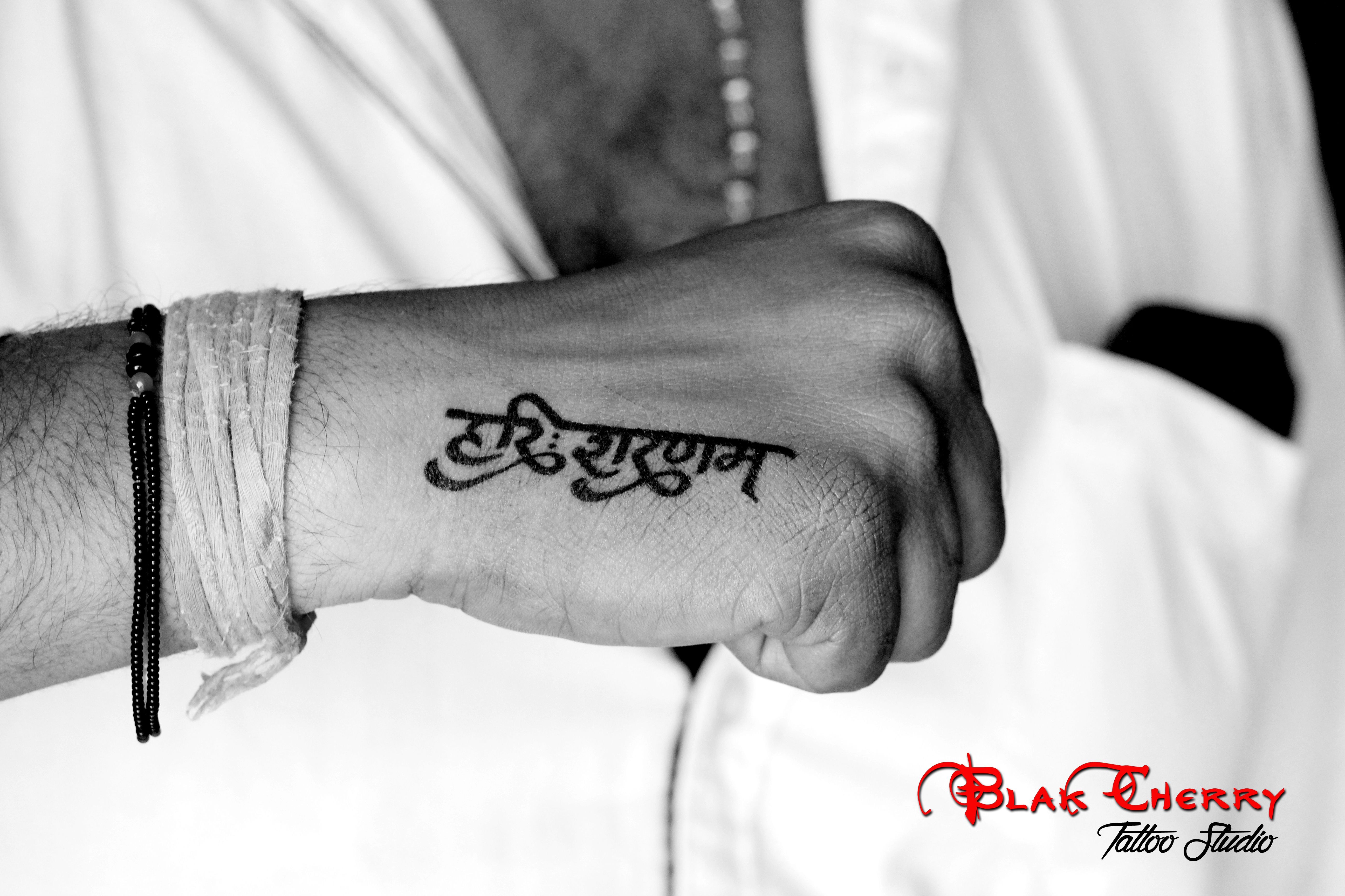Ganesh Name Tattoo Designs On Hand