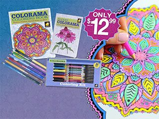 Colorama Is The Adult Coloring Book As Seen On TV