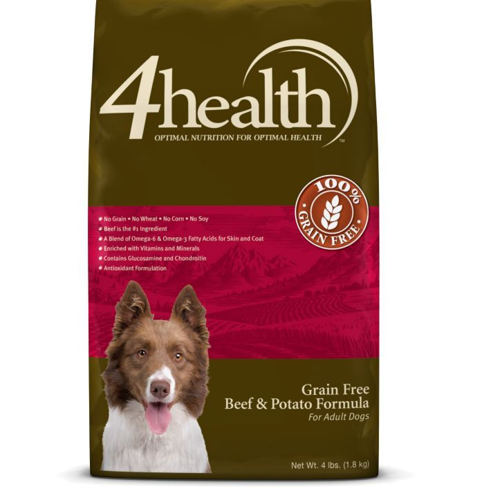 4health Puppy Food >> 4health Grain Free Beef Potato Dog Food 4 Lb Tractor
