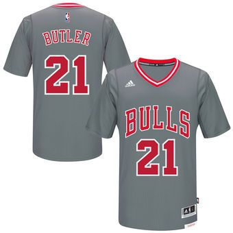 new product 93754 ac854 Jimmy Butler Chicago Bulls Pride Swingman Grey Jersey ...