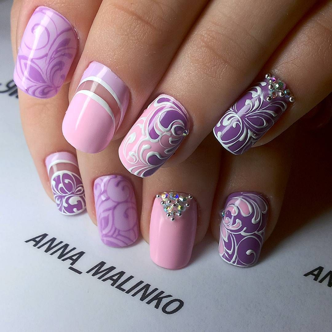 Фотографии Анны Малинко | Manicuras, Diseños de uñas cortas