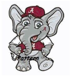 Alabama Crimson Tide Mascot 5 Cross Stitch By Exclusivexpatterns