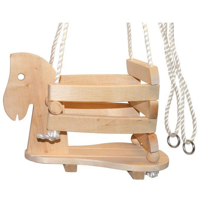 columpio de madera para nios en forma de caballo motricidad educacion