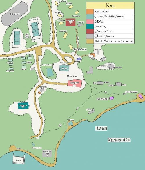 Map of Camp