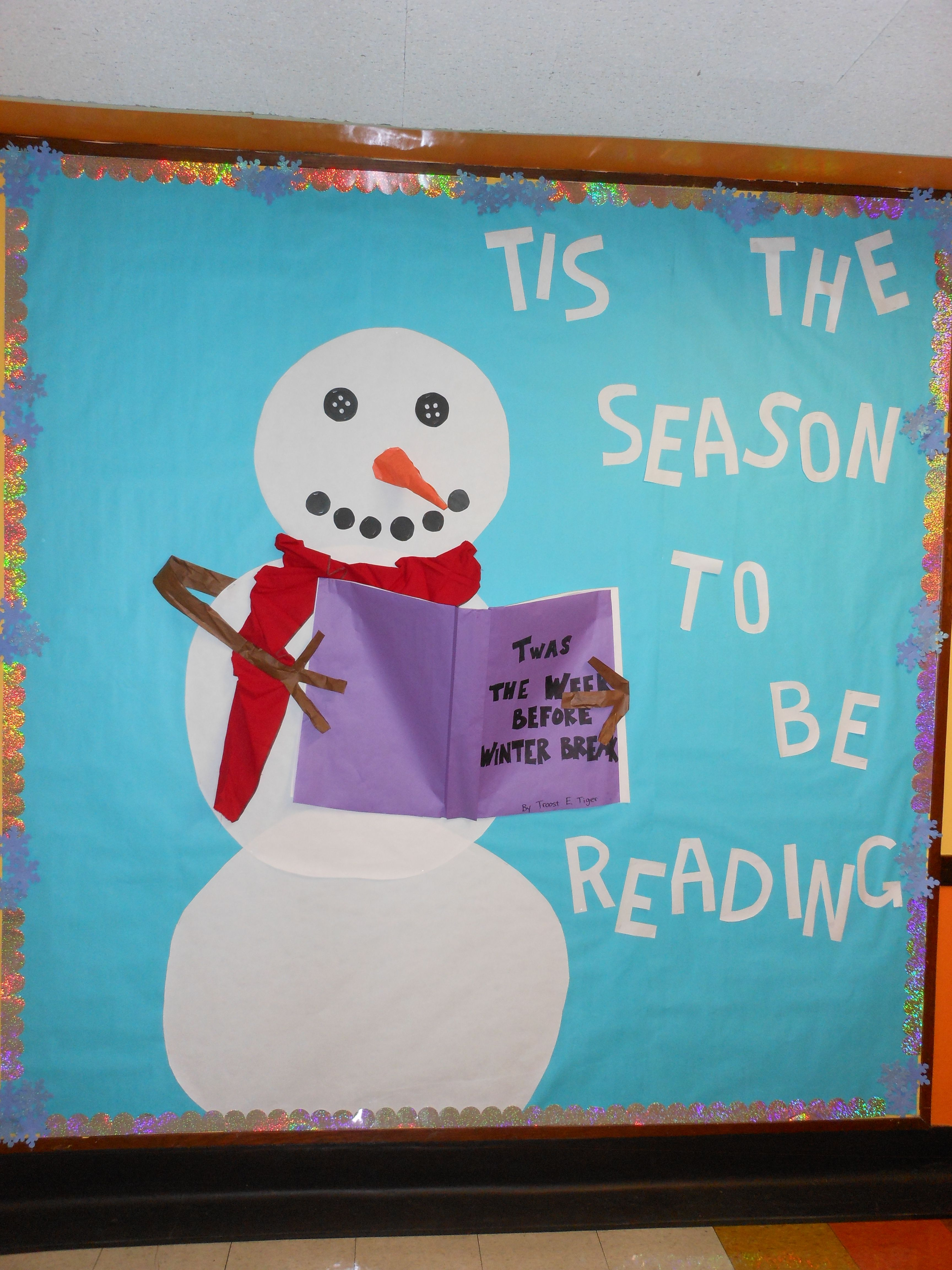 Worksheet Snowman Reading winter bulletin board december january christmas theme snowman tis the season to be reading