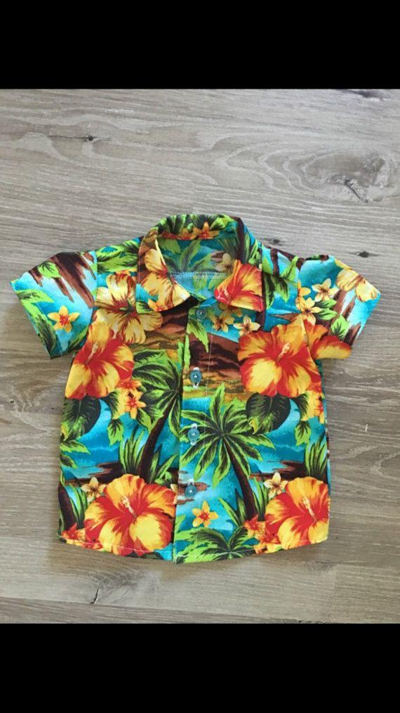 Baby boy hawaiian shirt | Etsy | Baby boy shirts, Boys hawaiian ...