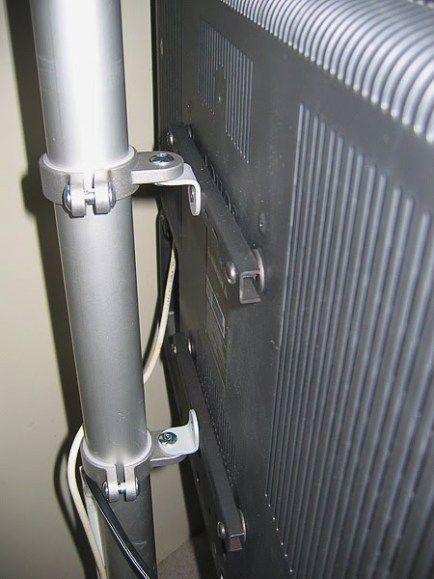 Hang your TV on a pole - IKEA Hackers