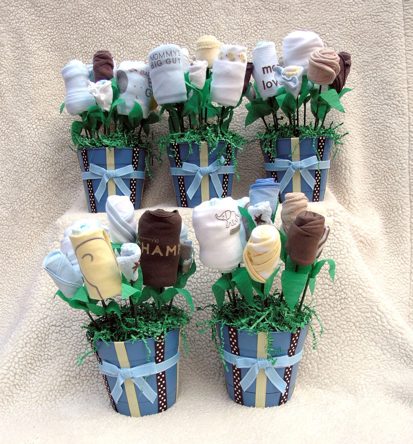 Baby Boy Shower Decorations Part - 24: 5 Baby Shower Decorations For A Baby Boy Shower. $245.00, Via Etsy.