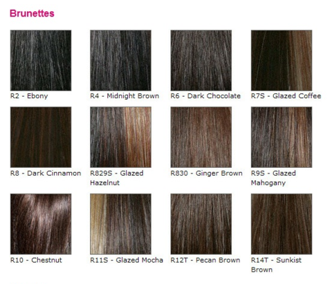 Raquel Welch Wig Color Chart Canada Hair And Beauty