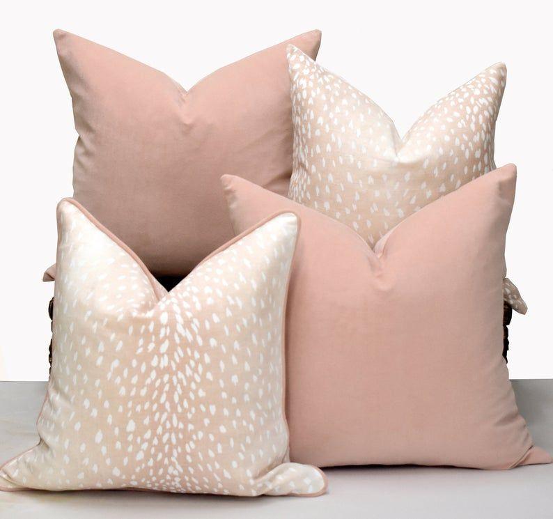 Blush Velvet Cushion Pink Velvet Pillow Cover Soft Pink Throw Pillow Plain Velvet In 2020 Pink Velvet Pillow Velvet Pillows Velvet Cushions