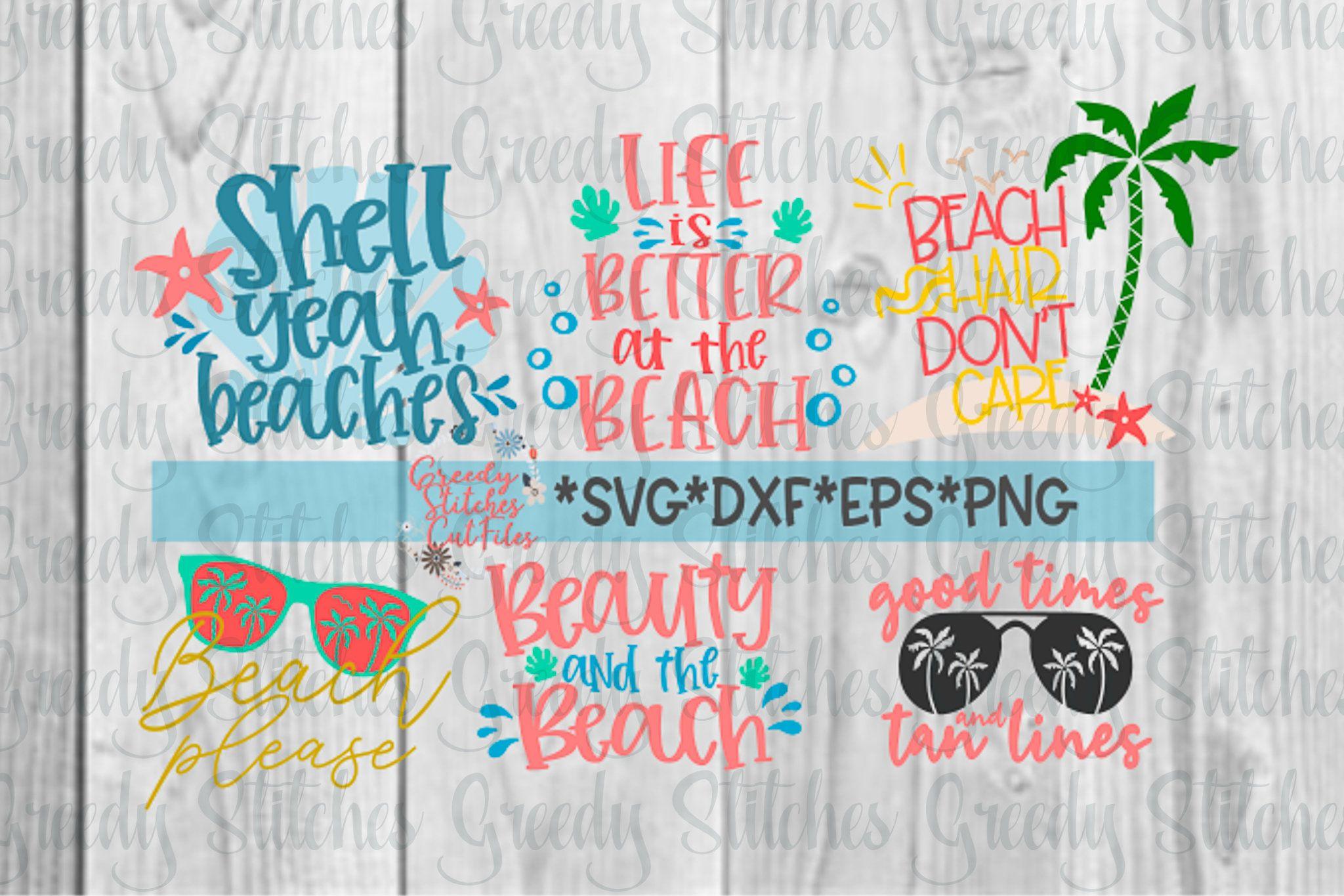 Beach Bundle Svg Dxf Eps Png Beach Please Svg Beach Hair Etsy Svg Dxf Design Bundles
